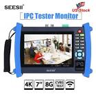 4K 7 inch IPC CCTV Camera Monitor Tester 8GB/WIFI/PoE With IP Discovery/HDMI