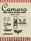 CAMARO CHEVROLET PARTS MANUAL BUYERS GUIDE BOOK HERD USED 1967 1981 1969 Z 28 SS