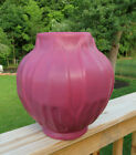 VAN BRIGGLE LARGE PERSIAN ROSE SIGNED PHILODENDRON VASE