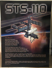 STS 110 ENDEAVOUR PRIMARY OBJECTIVE MISSION CREW 30 X 40 GLOSSY ARTISTIC BOARD