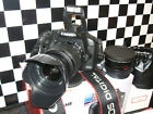 Canon EOS 500D 15.1MP Digital SLR Camera with THREE LENSES EF-S 18-55mm IS Lens)