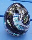 VTG SHAWN MESSENGER SIGNED GLASS PAPERWEIGHT 4 STUDIO ART GLASS ABSTRACT