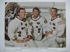 1ST MANNED APOLLO MISSION ASTRONAUTS SIGNED PHOTO EISELE SCHIRRA CUNNINGHAM