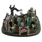 NWT! Lemax Spooky Town 'Graveyard Party' Sights & Sounds Mini Village Halloween