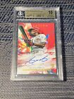 2020 Topps Inception Aristides Aquino Red Auto 70 75 RC Rookie Beckett BGS 10