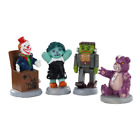 NIP! 2020 Lemax Spooky Town Terrible Toys Set of 4 Mini Village Halloween Decor