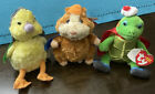 TY Beanie Babies Wonder Pets Ming Ming, Linny And Tuck. Lot Of 3. 2008. Retired