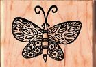 Outlines PAISLEY BUTTERFLY Wood Mounted Rubber Stamps Animals Nature Summer