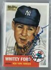 WHITEY FORD 2001 TOPPS TEAM LEGENDS ON CARD AUTO AUTOGRAPH YANKEES SP