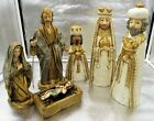Vintage Paper Mache Nativity Figures Made in Japan set 6 Approx Height 10