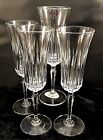 St George Crystal Odyssey Cut Lead Crystal Champagne Flutes SET of 4 Vintage