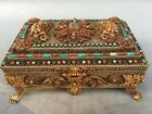 10 tibet copper silver gold turquoise red coral beast flower jewel case boxes