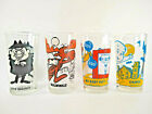 PEPSI CARTOON COLLECTOR SERIES GLASSES VINTAGE Lot of 4