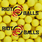 Paintballs 68 Cal 36 Grams Self Defense Nylon Solid Balls Glass Beaker Yellow