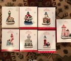 Hallmark Holiday Lighthouse LOT Complete Set of 7 2012 through 2018 Brand New