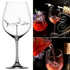 Red Wine Glasses With Shark Inside Goblet Lead Free Clear Glass Home Bar Party