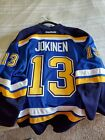 St. Louis Blues Authentic Team Issued 2015 Playoff Game Jersey - Olli Jokinen