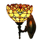 Tiffany Style Wall Light Handcrafted Vintage Stained Glass Lamp Loft Wall Sconce