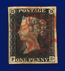 1840 SG2 1d Black Plate 1b AS5 PD Red MX Good Used Cat 375 bbzp