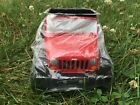 NEW Rare 2012 Vintage Teleflora Red Jeep Flower Pot Holder Plant Toy Candy Gift