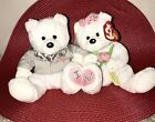 TY WE DO the WEDDING BEAR BEANIE BABY DUO - MINT with TAG