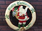 Merry Christmas Vintage Wall Door Hanging 21 inch Sign Decoration