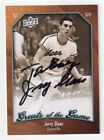 JERRY SLOAN Signed 2009-10 UD Greats of the Game Card #68 - NBA HOF Autograph