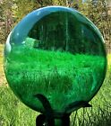 Extra Large 12 inch Leprechaun Green Hand Blown Glass Gazing Ball USA MADE