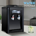 Dispenser Top Loading Electric Countertop Hot and Cold Water Cooler Black