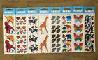 Hambly Prismatic Stickers Lot Of 8 Dino Insects Cows Hearts Turtle Giraffe Wild