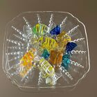 Hard Candy Glass Art Shaped Blown Wrapped Quality Murano Set of 6