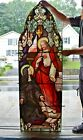 + Fine Older Stained Glass Church Window of The Sacred Heart of Jesus 23