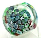 Colorful MURANO Millefiori CANES Multifaceted Art Glass PAPERWEIGHT Squared Side