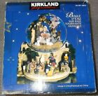 Kirkland Musical Water Globe w Revolving Base Nativity Scene snowglobe CHRISTMAS