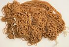 Antique Micro Seed Beads 14 0 Butterscotch Buckskin Tan lighter Greasy Op 24 gs