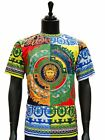 Prestige Multi Color Silky Italian Design Medusa Print Fancy Short Sleeves T