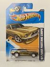 2012 Hot Wheels Super Treasure Hunt 67 Mustang Coupe Brown RR MOC Protecto Pack