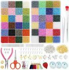 28800pcs 24 Multicolor Assortment Small Glass Beads DIY Jewelry Making With Box