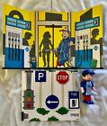 PEZ Retired Non-U.S. Pez Pal Aral Boy With Body Parts & Cardboard Signage - Mint