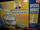 New Jack LaLannes Power Juicer Accessory Kit Included Seen On TV Open Box