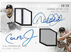 2017 TOPPS DIAMOND ICONS DEREK JETER and CAL RIPKEN JR Dual AUTO RELIC #'d 10 10