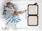 2017 TOPPS DIAMOND ICONS MIKE TROUT AUTOGRAPHED DUAL RELIC #'d 01 10 ANGELS