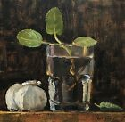 Garlic  Herbs NOAH VERRIER Still life oil painting Signed art print