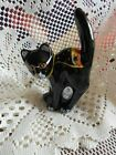 Fenton Art Glass Black Scaredy Cat 5291 BG Halloween Theme NIB NEW