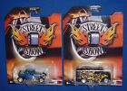 HOT WHEELS STREET SHOW Bone Shaker + Dairy Delivery Flames Real Riders NIP