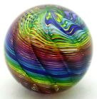 LG Splendid JAMES ALLOWAY Abstract RAELYNBOW Spiral Art Glass PAPERWEIGHT 33