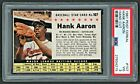 1961 POST CEREAL 107 HANK AARON Hand Cut PSA 3 VG HAMMERIN HANK