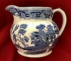 RIDGWAYS ENGLAND BLUE WILLOW PITCHER 5 TRANSFER WARE PAGODA WATER VINTAGE HTF