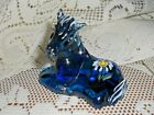 Fenton Art Glass Indigo Blue Foal Horse HP Sunflower 5057 DQ NEW