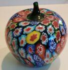 GREAT GIFT Vintage Murano Style Millefiore Art Glass Apple Paperweight